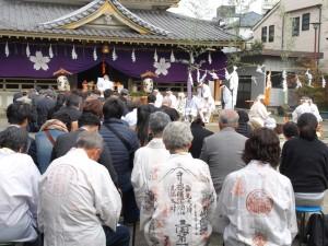 富士山太祠境内で鎮地祭が斉行されました