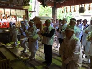 北口本宮浅間神社を御礼参詣