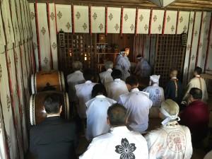富士山元祠で還幸祭が斎行されました
