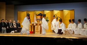 京都上七軒歌舞練場で開催の天拝式