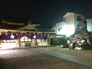 年明けを待つ富士山太祠