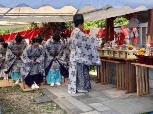 薩摩富士 鹿児島分祠祭のようす
