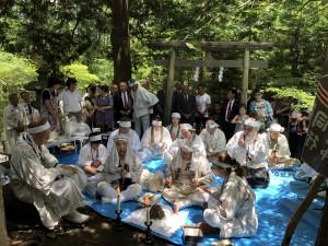 大塚山 での富士講御焚上げ神事