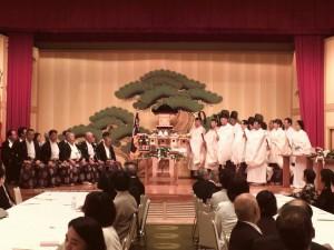 琴参閣 特設会場での天拝神事