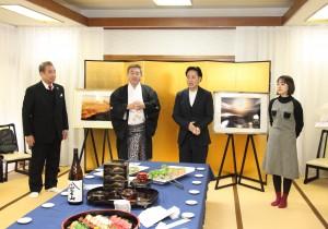 左からロッキー田中さま 管長台下 山崎銀之丞さま 吉田美佳子さま