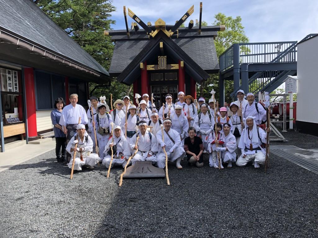 五合目 小御岳神社へ参詣