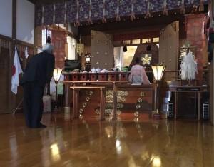 秋季報元大祭本殿祭にて全国から寄せらた奉賛目録が管長台下により奉献されました